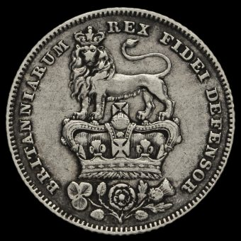 1826 George IV Milled Silver Sixpence Reverse