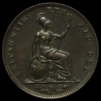 1826 George IV Copper Farthing Reverse
