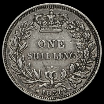1836 William IV Milled Silver Shilling Reverse