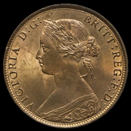 1862 Queen Victoria Bun Head Halfpenny Obverse