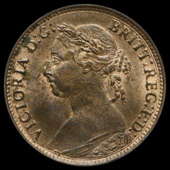 1886 Queen Victoria Bun Head Farthing Obverse