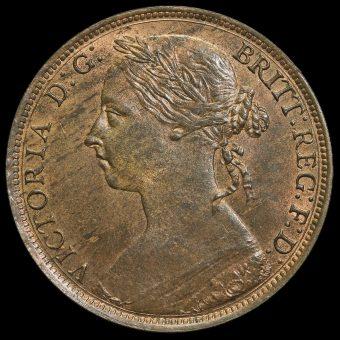 1886 Queen Victoria Bun Head Penny Obverse