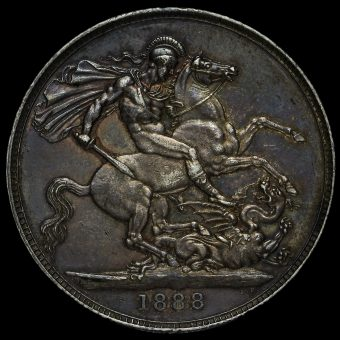 1888 Queen Victoria Jubilee Head Silver Crown Reverse