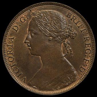1893 Queen Victoria Bun Head Penny Obverse