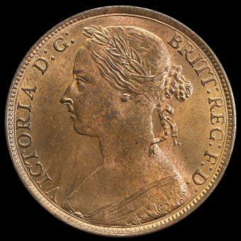 1894 Queen Victoria Bun Head Penny Obverse