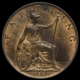 1895 Queen Victoria Veiled Head Farthing Reverse