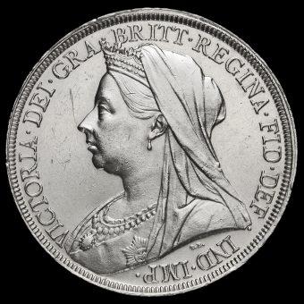 1897 Queen Victoria Veiled Head Silver LX Crown Obverse