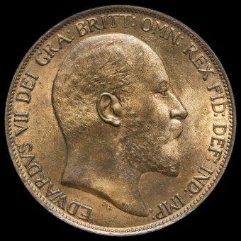 1902 Edward VII Penny Obverse