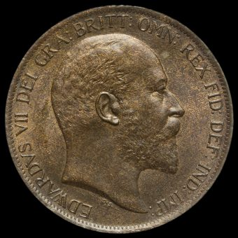 1902 Edward VII Low Tide Penny Obverse