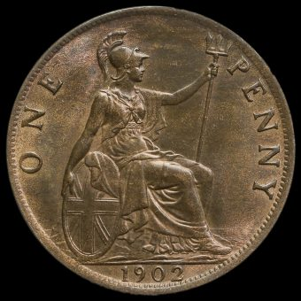 1902 Edward VII Low Tide Penny Reverse