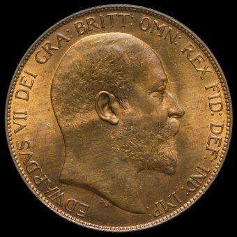 1904 Edward VII Penny Obverse