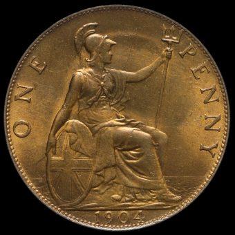 1904 Edward VII Penny Reverse
