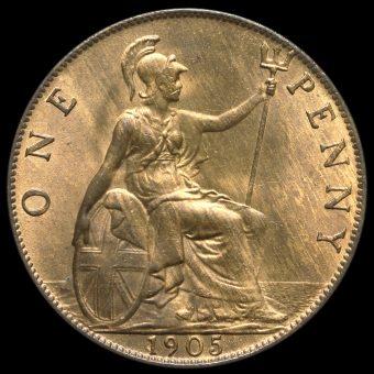 1905 Edward VII Penny Reverse