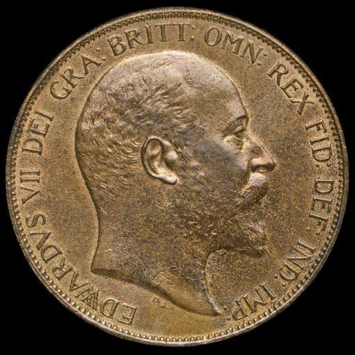 1906 Edward VII Penny Obverse