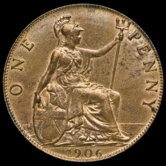 1906 Edward VII Penny Reverse