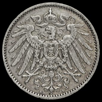 Germany 1907 Wilhelm II Silver 1 Mark Obverse