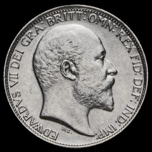 1907 Edward VII Silver Sixpence Obverse