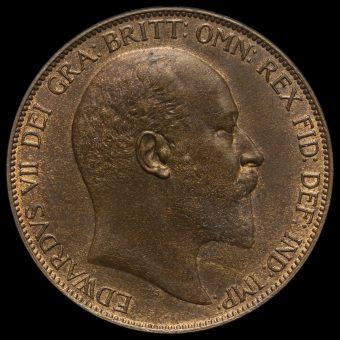 1907 Edward VII Penny Obverse