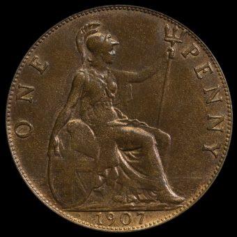 1907 Edward VII Penny Reverse