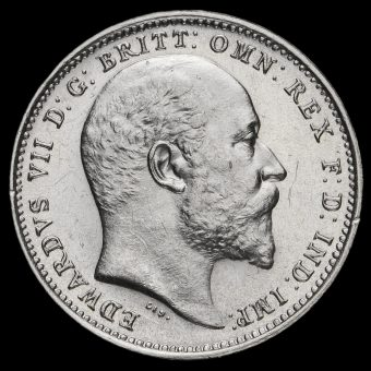 1908 Edward VII Silver Maundy Fourpence Obverse