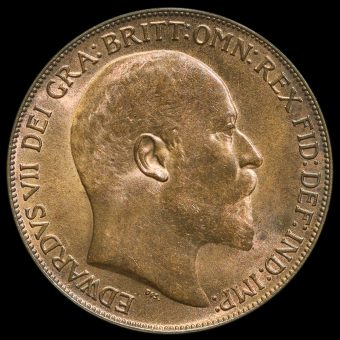 1908 Edward VII Penny Obverse
