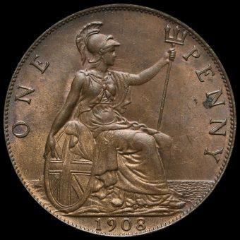 1908 Edward VII Penny Reverse