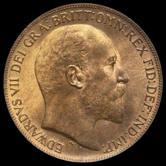 1909 Edward VII Penny Obverse