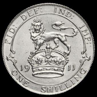 1911 George V Silver Shilling Reverse