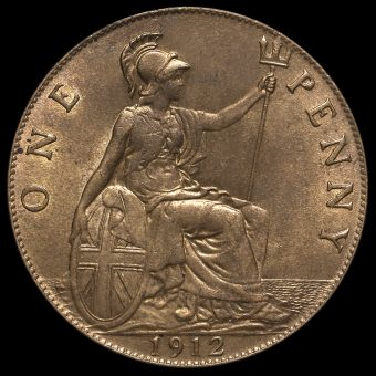 1912 George V Penny Reverse