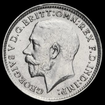 1918 George V Silver Threepence Obverse