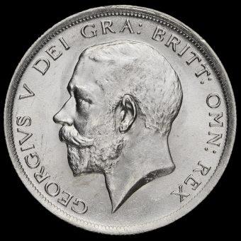 1918 George V Silver Half Crown Obverse