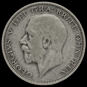 1930 George V Silver Half Crown Obverse