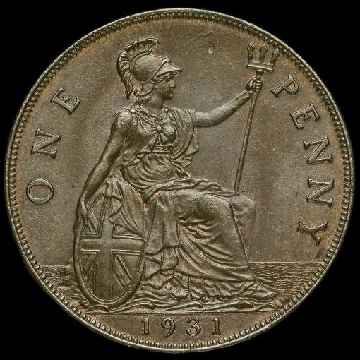 1931 George V Penny Reverse