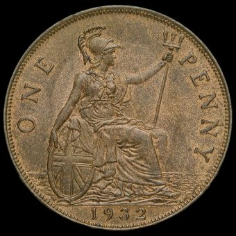 1932 George V Penny Reverse