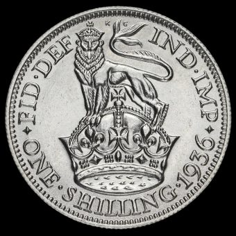 1936 George V Silver Shilling Reverse