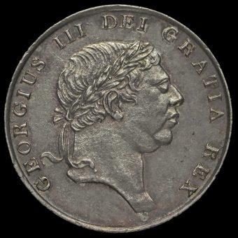 1812 George III Silver Eighteenpence Bank Token Obverse