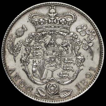 1821 George IV Milled Silver Half Crown Reverse