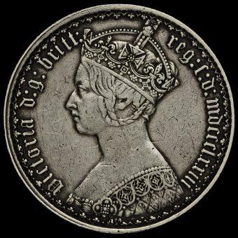 1873 Queen Victoria Gothic Florin Obverse