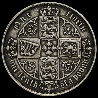 1873 Queen Victoria Gothic Florin Reverse