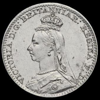 1888 Queen Victoria Jubilee Head Silver Maundy Penny Obverse