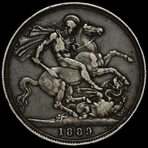 1889 Queen Victoria Jubilee Head Silver Crown Reverse
