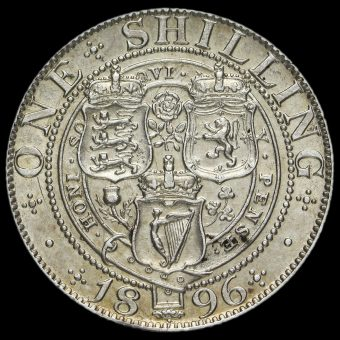 1896 Queen Victoria Veiled Head Silver Shilling Reverse