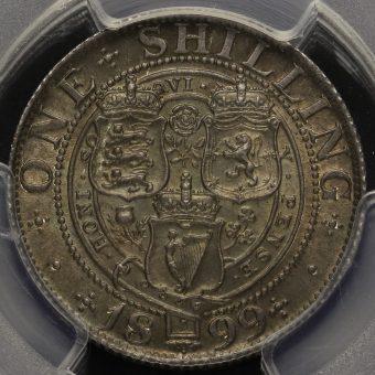 1899 Queen Victoria Veiled Head Silver Shilling Reverse
