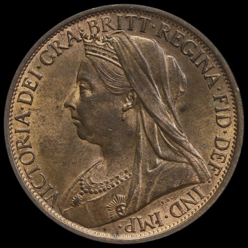 1900 Queen Victoria Veiled Head Penny Obverse