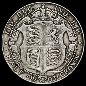 1903 Edward VII Silver Half Crown Reverse