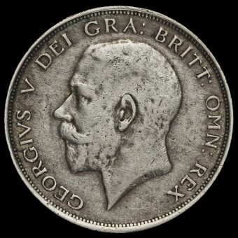 1913 George V Silver Half Crown Obverse
