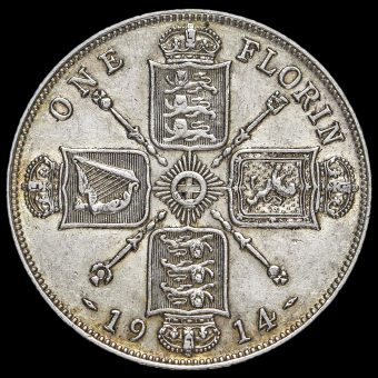 1914 George V Silver Florin Reverse