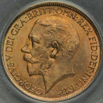 1918 George V Halfpenny Obverse