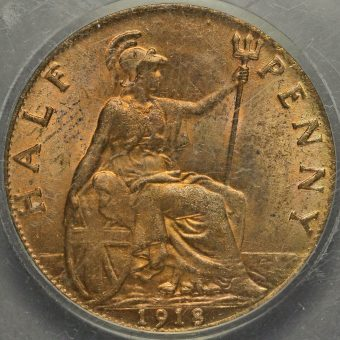 1918 George V Halfpenny Reverse