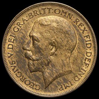 1920 George V Penny Obverse